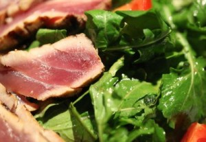 healthy meat and greens
